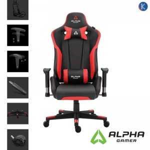 Cadeira Gaming Alpha Game Preta/Vermelha