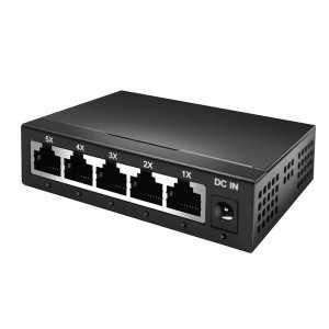 Network Switch Amiko - 5 Portas - Gigabit
