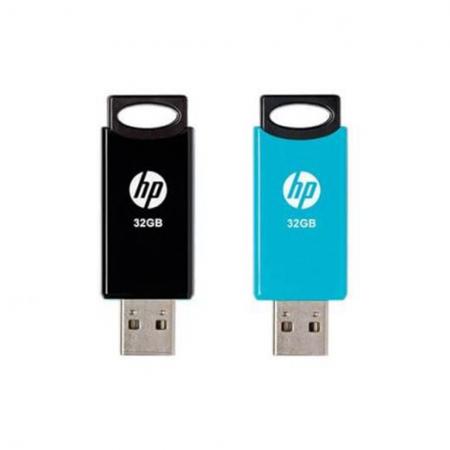 Pack 2 Pendrive HP 32GB USB 2.0 Preto/Azul