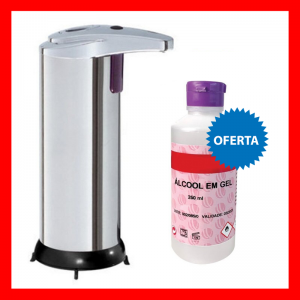 Dispensador Doseador IR c/ Oferta Álcool Gel 250ML 70%