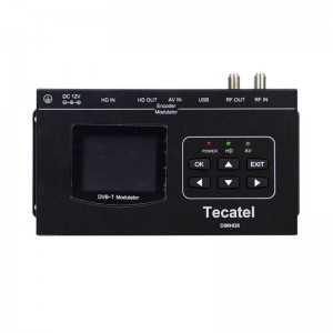 Modulador Tecatel full HD COFDM ent-sai HDMI USB A/V em RCA